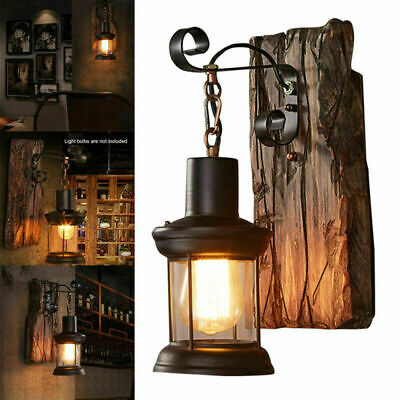 UK Wall Sconce Light Retro Antique Vintage Rustic Lantern Lamp Fixture Outdoor • 21.99£