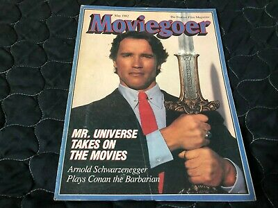 MAY 1982 MOVIEGOER Movie Magazine ARNOLD SCHWARZENEGGER - CONAN • 11.24£