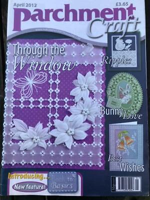 Parchment Craft Magazine April 2012 Easter Cards, Cat, Horseshoe, Yellow Rose • 2.50£