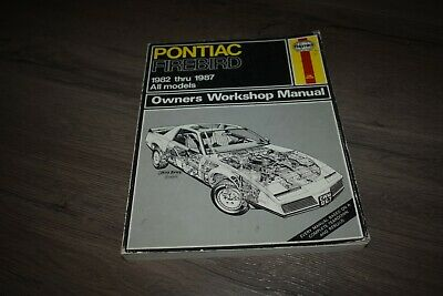 $5 • Buy 1982 1983 1984 1985 1986 1987 Pontiac Firebird Repair Manual Haynes Trans Am
