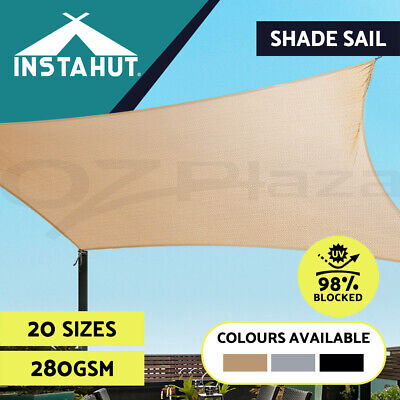 AU46.90 • Buy Instahut Shade Sail ShadeCloth Heavy Duty Sun Canopy Triangle Square Rectangle