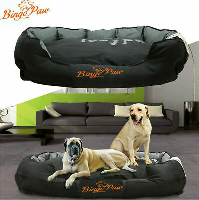 Extra Large Jumbo Orthopedic Dog Bed Soft Washable Kennel Pet Basket Waterproof • 36.93£
