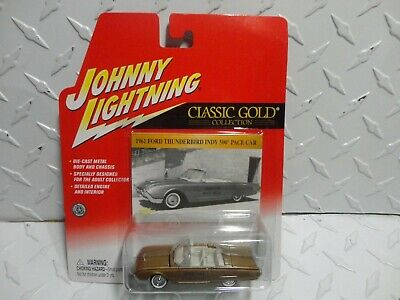 $2.99 • Buy Johnny Lightning Classic Gold Gold 1961 Ford Thunderbird Indy 500 Pace Car
