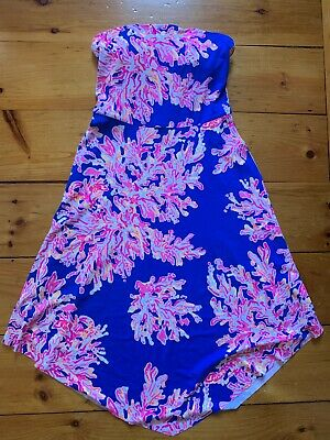 $30 • Buy Lilly Pulitzer Strapless Coral Stretch Dress Size Small