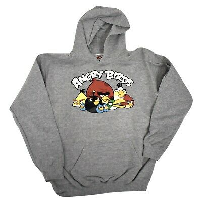 £6.38 • Buy Angry Birds Youth Boys Gray Pullover Hoodie New M