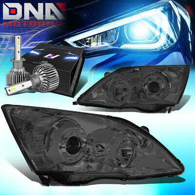 $212.65 • Buy For 2007-2011 Honda Crv Smoked Clear Projector Headlight W/led Kit Slim Style