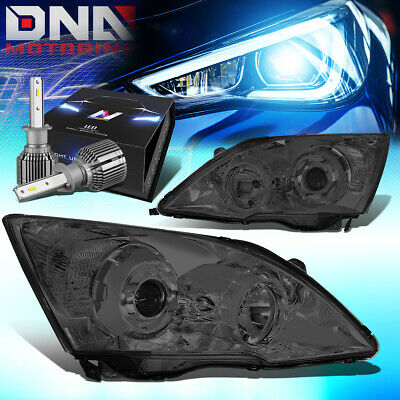 $212.65 • Buy For 2007-2011 Honda Crv Smoked Clear Side Projector Headlight W/led Kit+cool Fan