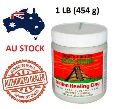 AU38.50 • Buy Aztec Secret Indian Healing Clay Facial Deep Pore Cleansing Mask 454g Genuine AU