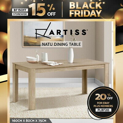 AU179.95 • Buy Artiss Dining Table 6 Seater Wooden Kitchen Tables Oak 160cm Cafe Restaurant