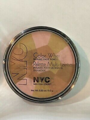 NYC Color Wheel Mosaic Face Powder 726 Bronzed Pink • 14.46£