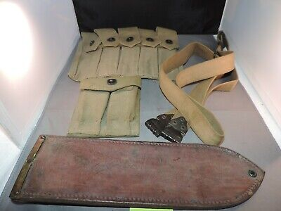 $40 • Buy  WW2 Period USMC Web Gear For 1911A1 Nobuckl Sling Boyt Bolo Scabbard And More