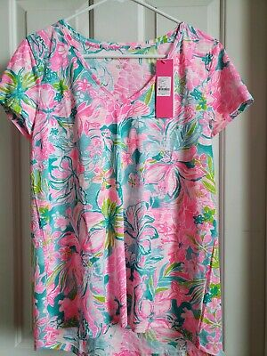 $37.99 • Buy Lilly Pulitzer Etta Top Multi Hot On The Scene Size M NWT