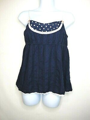 $ CDN6.56 • Buy Anthropologie Eloise Top Size S Small Navy Blue Sleeveless Cami Camisole Womens