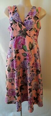 AU18.95 • Buy ASOS Size 12 Sleeveless Floral Print Dress Stretch Summer