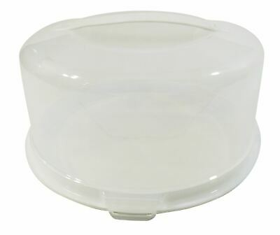 Round Large Cake Pie Food Storage Plastic Tub Pot Carrier Box 33cm Made In Uk • 12.99£