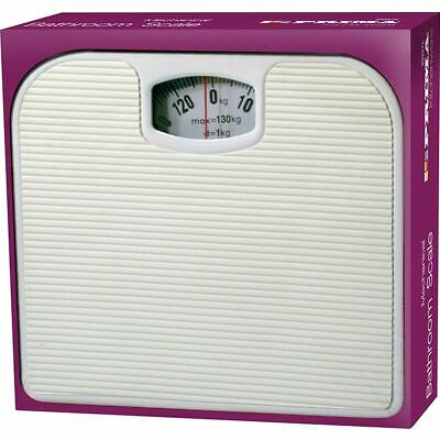 Mechanical Dial Bathroom Scales Weighing Scale Body Weight White 130kg • 11.99£