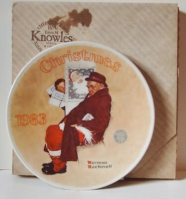 $ CDN19.64 • Buy Norman Rockwell - Knowles Limited Ed. 1983  Santa In The Subway  Collector Plate