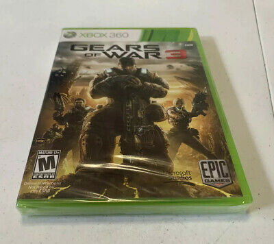 $15 • Buy Gears Of War 3 Microsoft Xbox 360 *Factory Sealed! *Free Shipping!