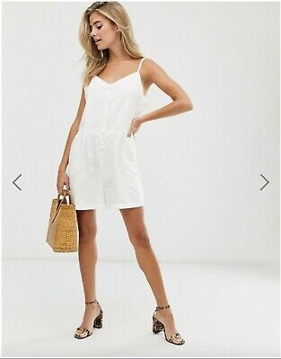 AU12 • Buy Collection Pimkie (Urban Outfitters) White Playsuit Size Small