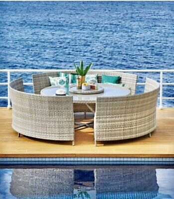 AU960 • Buy Hudson Outdoor Dining Setting 12 Seater With Lazy Susie