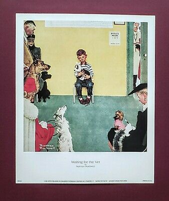 $ CDN11.99 • Buy Norman Rockwell, Waiting For The Vet, 1952, Saturday Evening Post Print, 9x11