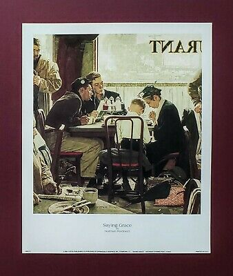 $ CDN11.99 • Buy Norman Rockwell, Saying Grace, 1951, Saturday Evening Post Print, 9x11