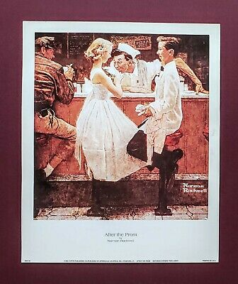 $ CDN11.99 • Buy Norman Rockwell, After The Prom,  1957,  Saturday Evening Post Print, 9x11