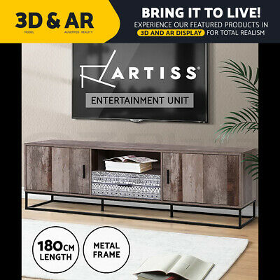 AU179.95 • Buy Artiss TV Cabinet Entertainment Unit Stand Storage Wood Industrial Rustic 180cm