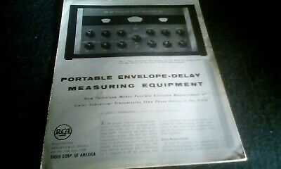 $8 • Buy RCA Broadcasting BW-8A Envelope Delay Measuring Set Brochure 1959