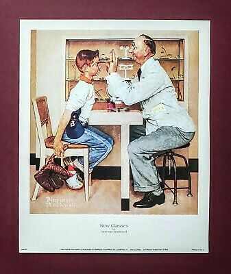 $ CDN11.99 • Buy Norman Rockwell, New Glasses, Saturday Evening Post Art Print, 9x11 Inches