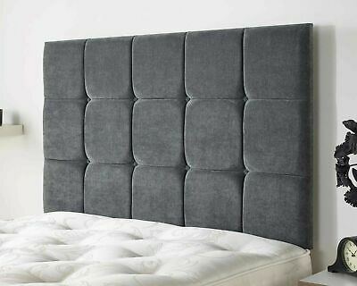 Deluxe Cubes Buttoned Linen Fabric Upholstered Headboard Wall Or Divan Bed Head • 54.98£
