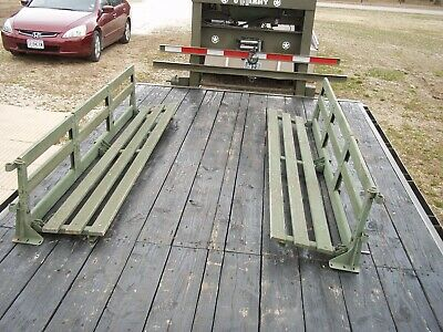 $300 • Buy 2 Military Surplus Hmmwv M998 Troop Seats Truck Trailer Camp Us Army---- No Bows