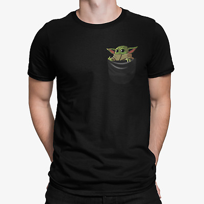 $19.99 • Buy Baby Yoda In Your Pocket Middle Finger Unisex T-shirt