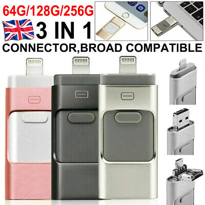 £9.59 • Buy USB I Flash Drive Disk Storage Memory Stick For IPhone IPad PC IOS Android 256GB