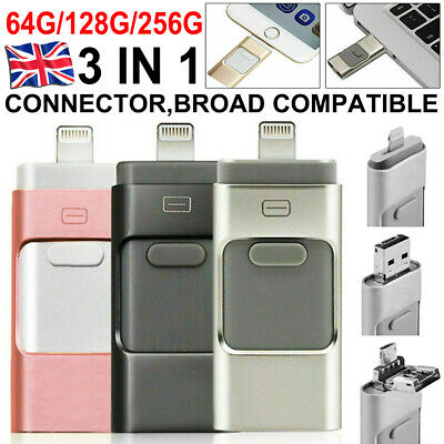 £13.99 • Buy USB I Flash Drive Disk Storage Memory Stick For IPhone IPad PC IOS Android 256GB