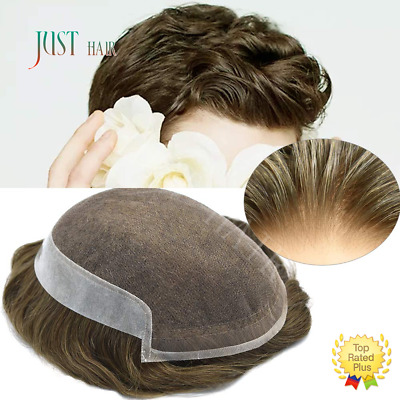 £237.22 • Buy French Lace Mens Toupee Poly Skin Hairpieces Remy Human Hair Replacement Systems
