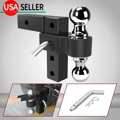 $76.30 • Buy 6061 Aluminum 6'' Adjustable Receiver Trailer Hitch Towing W/ 2  & 2-5/16  Ball