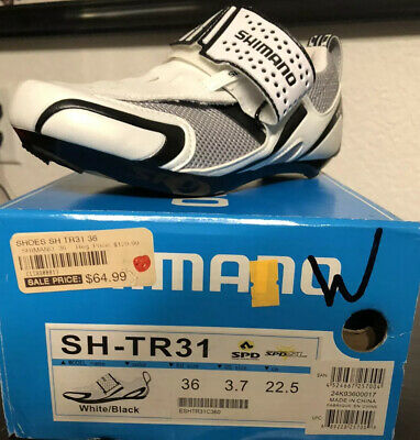 $45.99 • Buy  Shimano SH-TR31 Triathlon Cycling Shoes - White / Black - Size 36