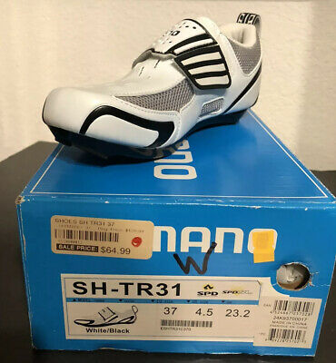 $45.99 • Buy  Shimano SH-TR31 Triathlon Cycling Shoes - White / Black - Size 37 EU 4.5 Us W