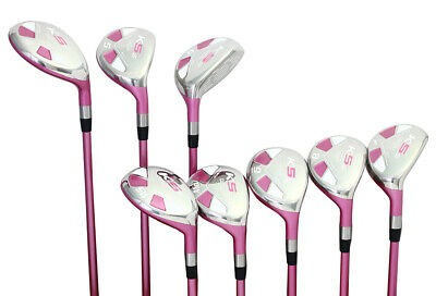 AU374.52 • Buy Senior Women's Majek Golf Pink Ladies Hybrid Set (4-SW) Lady Flex Utility Clubs