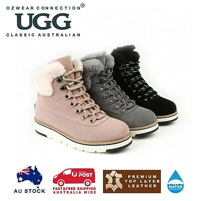 AU79 • Buy Ozwear Ugg Lori Laceup Sneaker Boots (water Resistant) 3 Colours Ob482