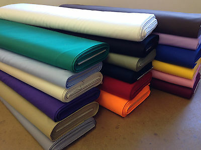 £8.50 • Buy PLAIN  COTTON DRILL TWILL Fabric EXTRA THICK WHITE RED PURPLE BLACK BLUE 150cms
