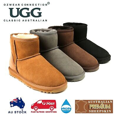 AU75 • Buy Ozwear Ugg Mens Classic Mini Boots (water Resistant) 4 Colours Ob386
