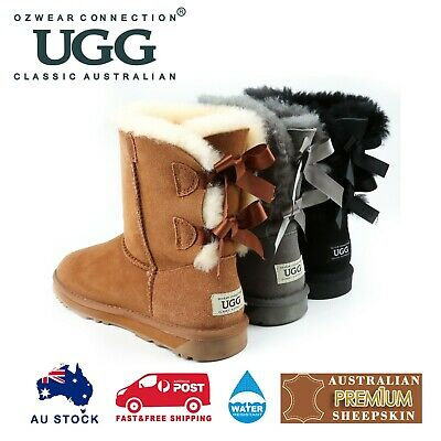 AU79 • Buy Ozwear Ugg Classic Bailey Bow Boots (water Resistant) 3 Colours Ob364