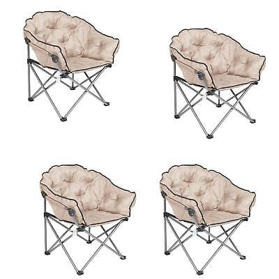 $407.99 • Buy Mac Sports Foldable Padded Outdoor Club Chair With Carry Bag, Beige (4 Pack)