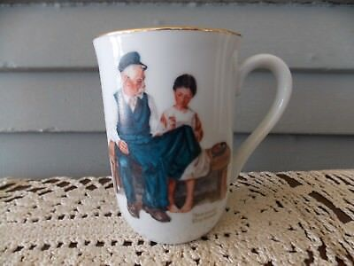 $ CDN5.31 • Buy Vintage 1982 Norman Rockwell  The Lighthouse Keeper's Daughter  Coffee Cup Mug