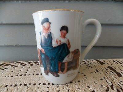 $ CDN5.34 • Buy Vintage 1982 Norman Rockwell  The Lighthouse Keeper's Daughter  Coffee Cup Mug