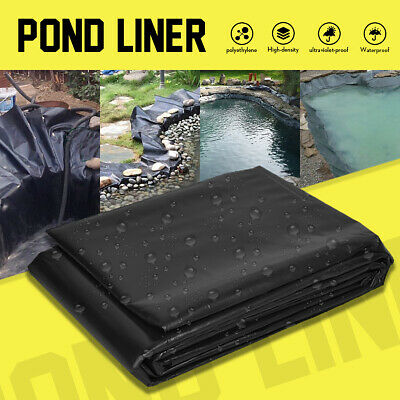 33FT Garden Fish Pond Liners Liner Pool HDPE Membrane Reinforced Landscaping • 9.67£