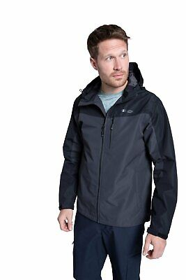 Mountain Warehouse Brisk Extreme Mens Waterproof Jacket Taped Seams Coat Cagoule • 69.99£
