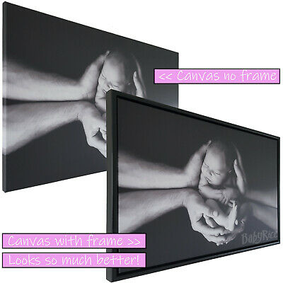 New Black Floating Tray Frame For Your Existing Canvas Surround Framing Canvases • 38.95£